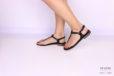 Sandalo infradito minimal nero con perle </br> D1078 Scarpe donna