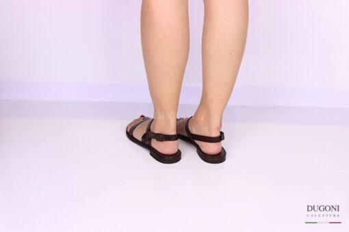 Sandalo infradito marrone </br> D1069 Scarpe donna