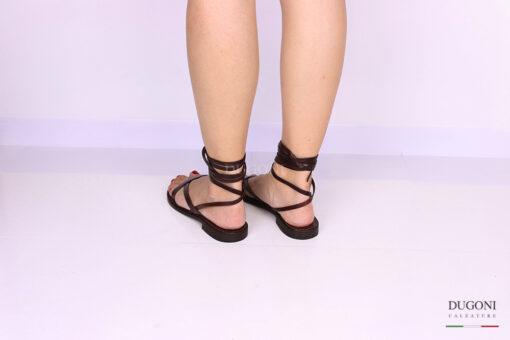 Sandalo infradito marrone alla schiava </br> D1070 Scarpe donna