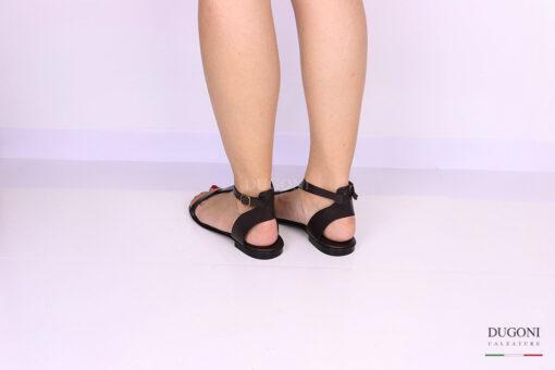 Sandalo infradito minimal marrone </br> D1083 Scarpe donna