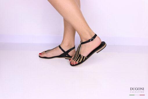 Sandalo infradito cavallino </br> D1081 Scarpe donna