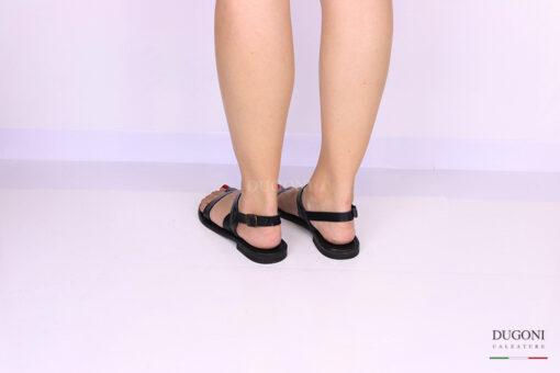 Sandalo infradito nero </br> D1068 Scarpe donna