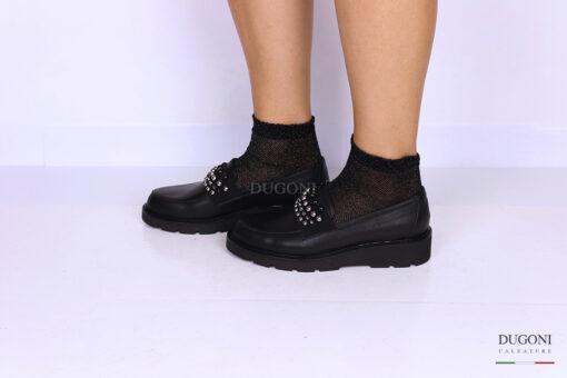 Sneakers slipon con borchiette </br> D1113 Outlet