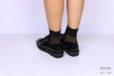 Sneakers di vernice nera </br> D1119 Scarpe donna