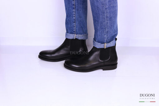 Stivaletto beatles pelle nero </br> U267 Outlet