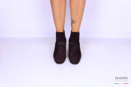 Stivaletto beatles in camoscio bordeaux </br> D1135 Outlet