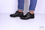 Derby tipo oxford nera </br> U232 Outlet