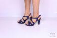 Sandalo pelle blu </br> D1184 Scarpe donna