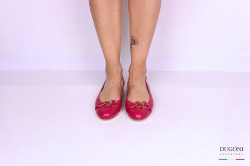 Slingback fucsia con catena </br> D1157 Outlet