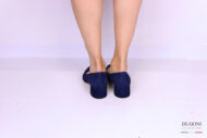 Décolleté sfilato camoscio blu </br> D1156 Scarpe donna