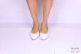 Slingback flat pelle bianca </br> D1178 Scarpe donna
