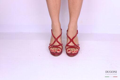 Sandalo galassia rosso </br> D1181 Scarpe donna