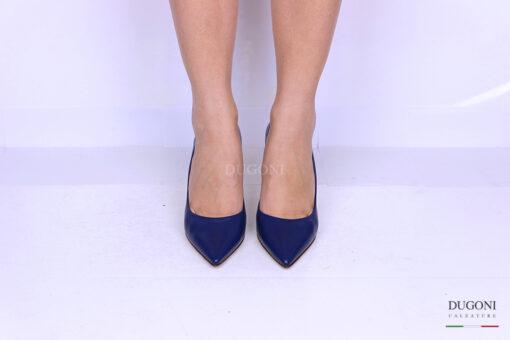 Décolleté blu con smerlo laterale </br> D1149 Scarpe donna