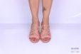 Sandalo incrociato tacco grosso rosa </br> D1189 Outlet