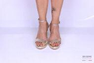 Sandalo minimal platino </br> D1175 Scarpe donna