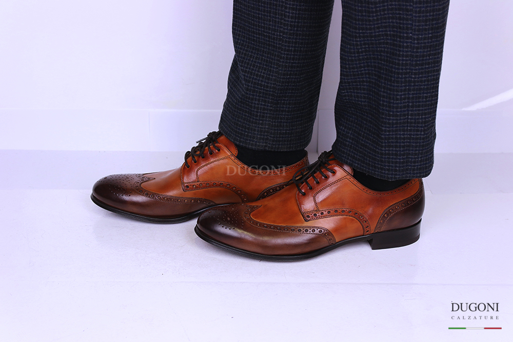 Derby marrone e cuoio – Brecos <br> U284 Calzature uomo