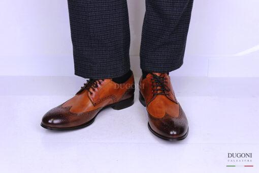 Derby marrone e cuoio – Brecos <br>U284 Calzature uomo
