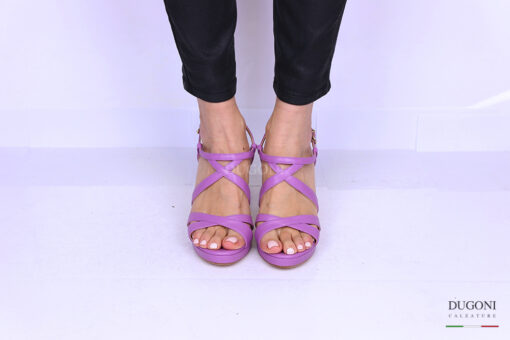 Sandalo pelle glicine </br> D1186 Scarpe donna