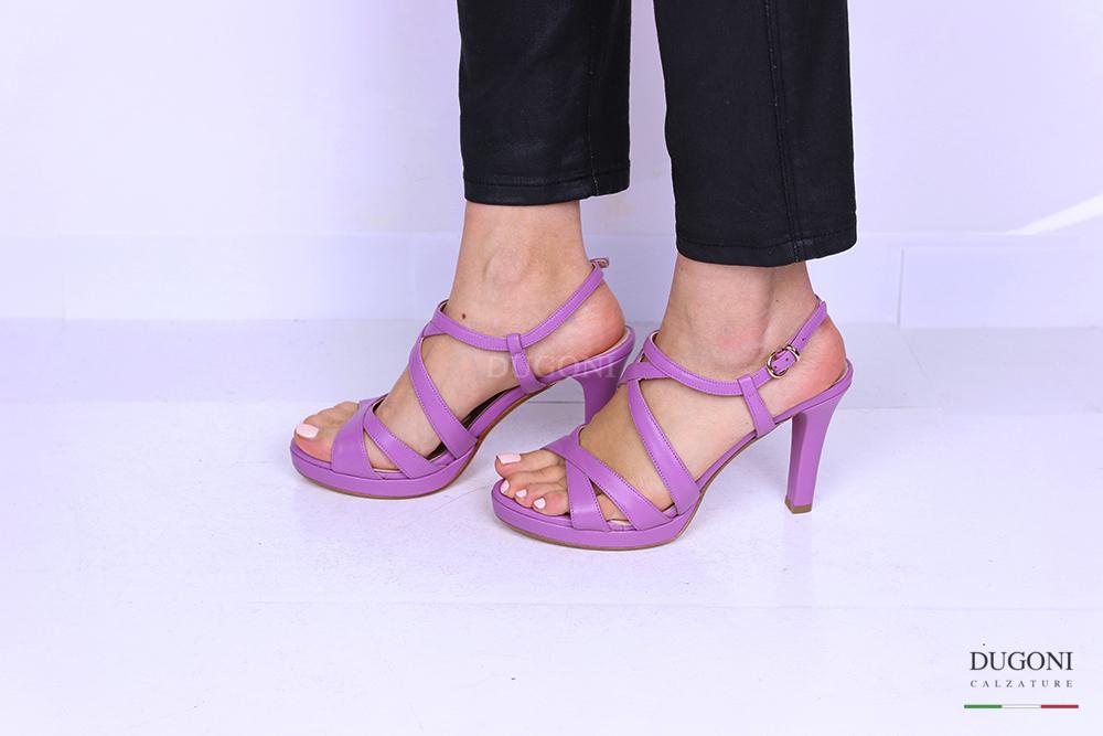 Sandalo pelle glicine </br> D1186 Outlet