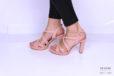 Sandalo pelle rosa cipria </br> D1185 Scarpe donna