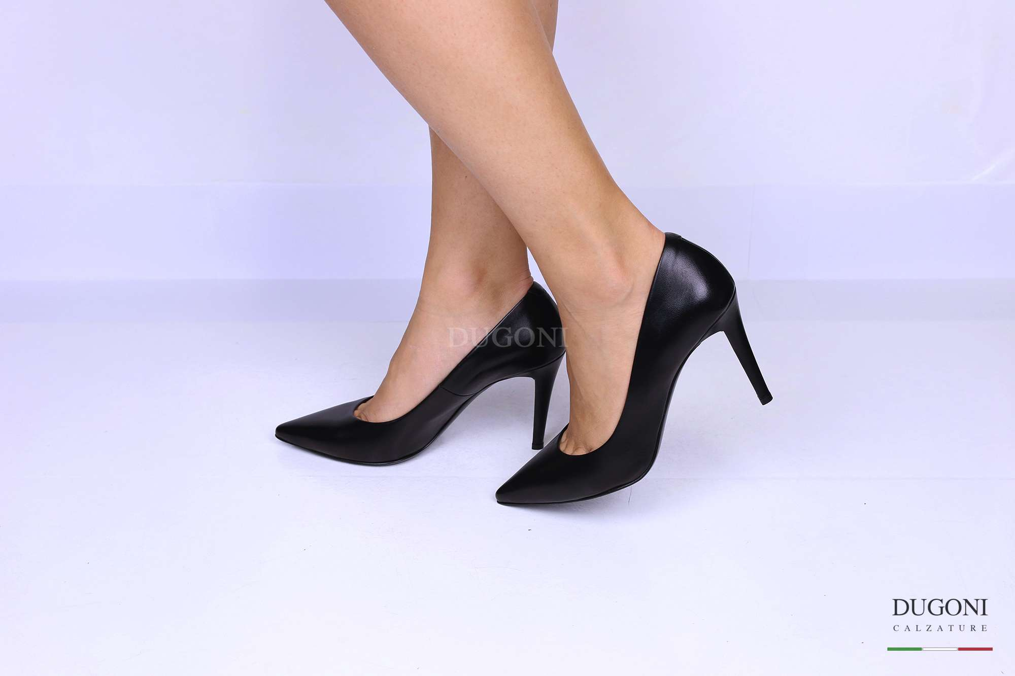 Décolleté sfilato nero </br> D1210 Scarpe donna