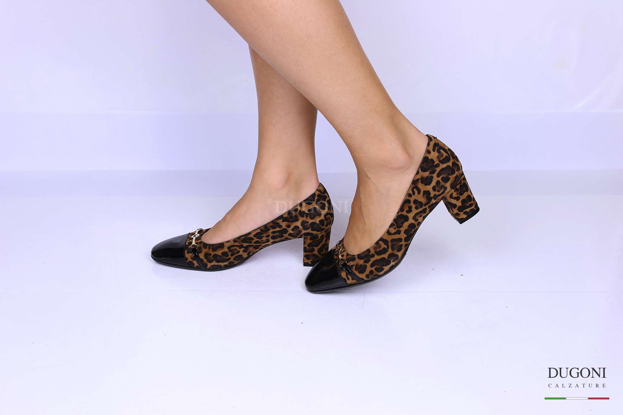 Décolleté leopardato con morsetto </br> D1204 Outlet