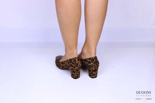 Décolleté leopardato con morsetto </br> D1204 Scarpe donna