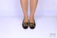 Mocassino leopardato con catena oro </br> D1203 Scarpe donna
