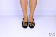 Mocassino leopardato con catena oro </br> D1203 Scarpe donna