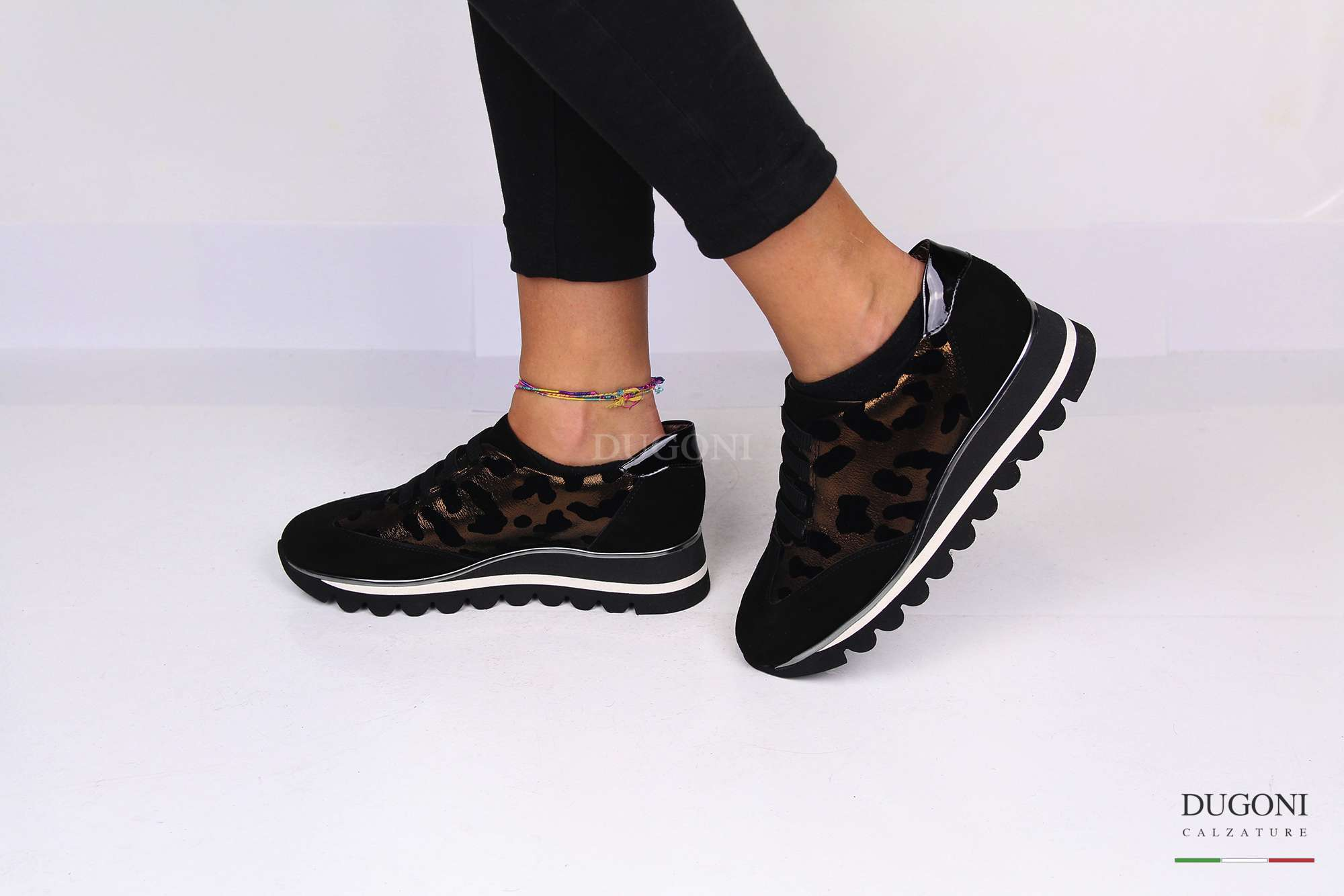 Sneakers leopardata D1238
