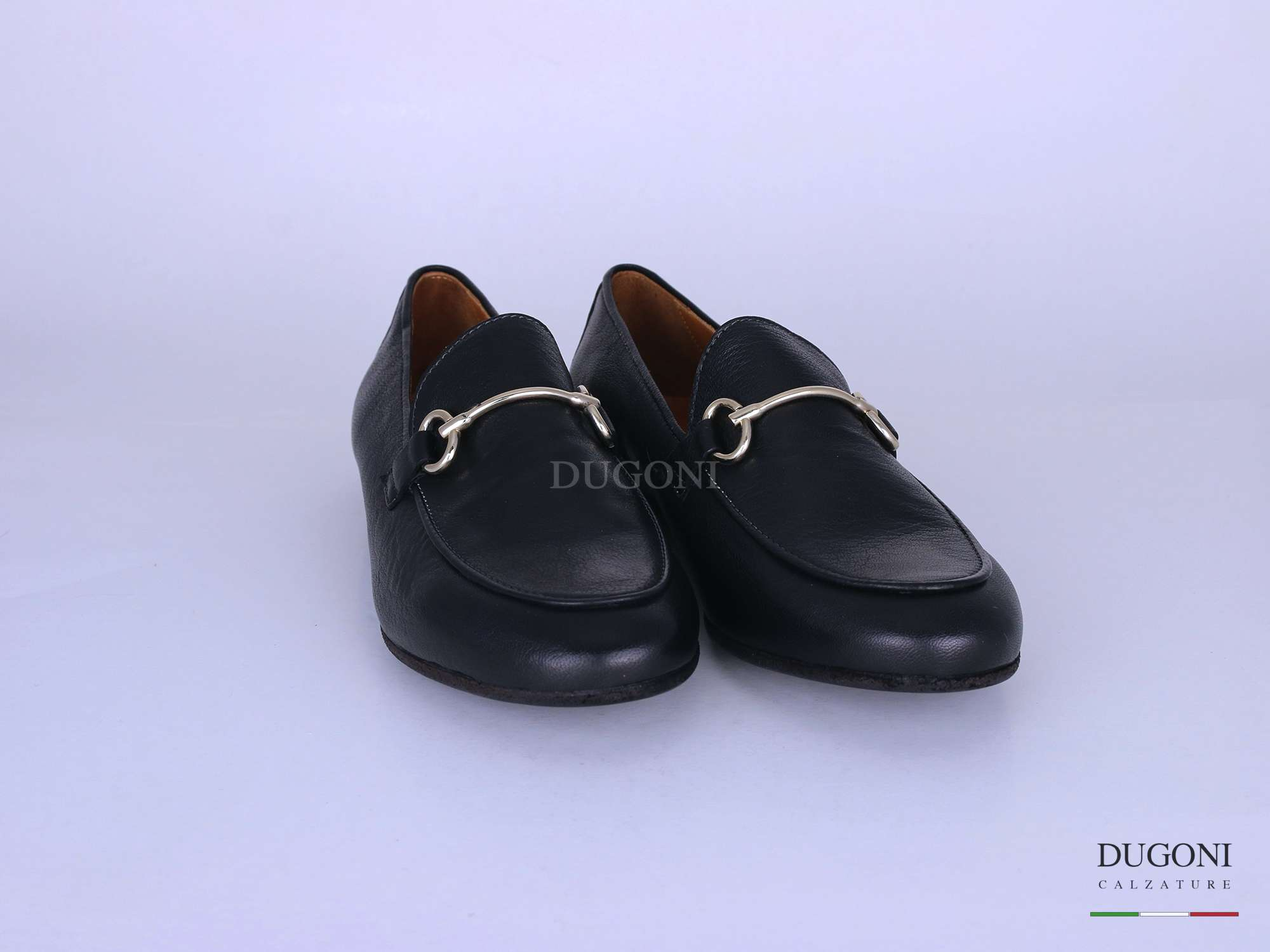 Mocassino con accessorio nero </br> D1274 Scarpe donna