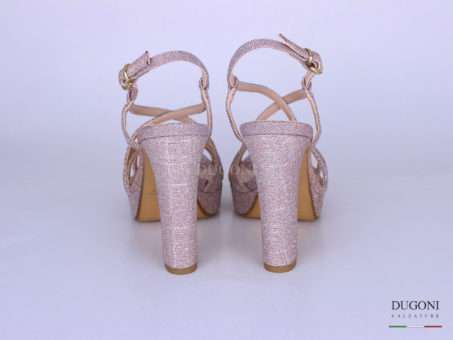 Sandalo galassia rosa tacco alto</br> D1260 Scarpe donna