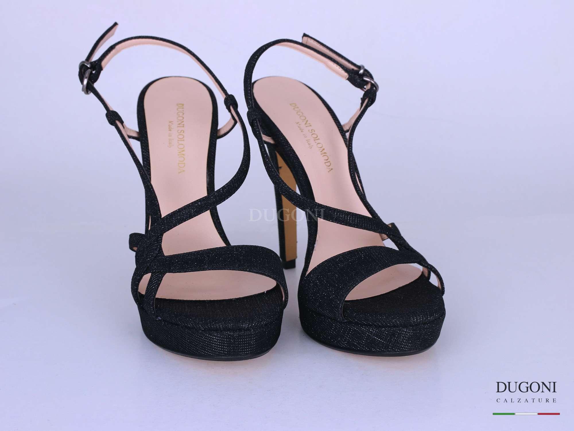 Sandalo stiletto galassia nero </br> D1254 Scarpe donna