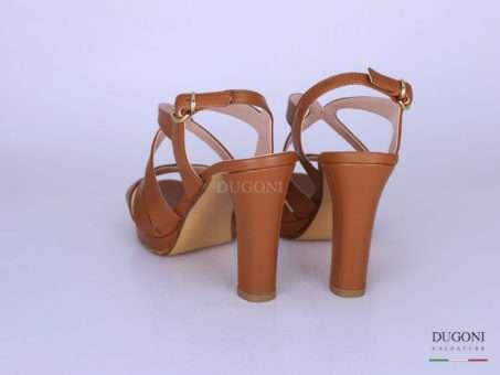 Sandalo pelle cuoio </br> D1285 Scarpe donna