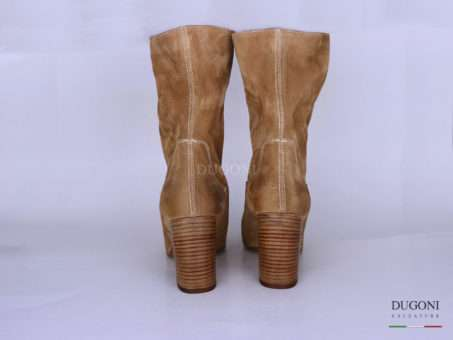 Stivaletto camoscio taupe </br> D1271 Outlet