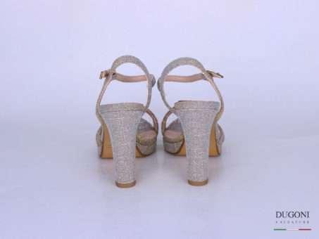 Sandalo galassia platino </br> D1281 Scarpe donna