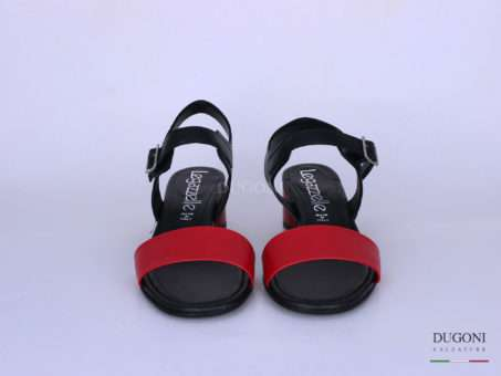 Sandalo fascetta bicolor rosso </br> D1267 Scarpe donna
