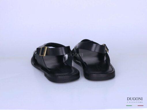Sandalo in cuoio nero </br> U310 Calzature uomo