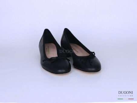 Ballerina in pelle nera </br> D1294 Scarpe donna