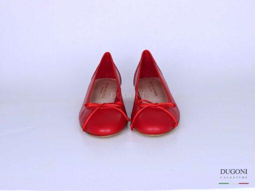 Ballerina in pelle rossa  </br> D1295 Ballerine