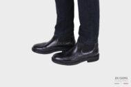 Stivaletto nero con elastici inglese <br>U333 Calzature uomo